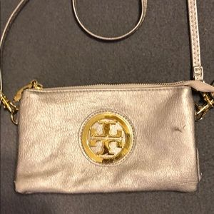 Tory Burch metallic crossbody